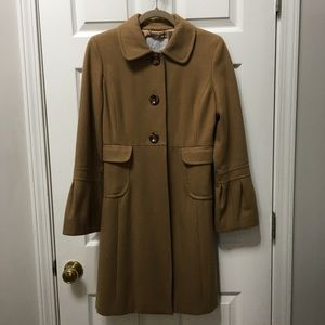 🧥Old Navy long wool pea coat camel color SMALL